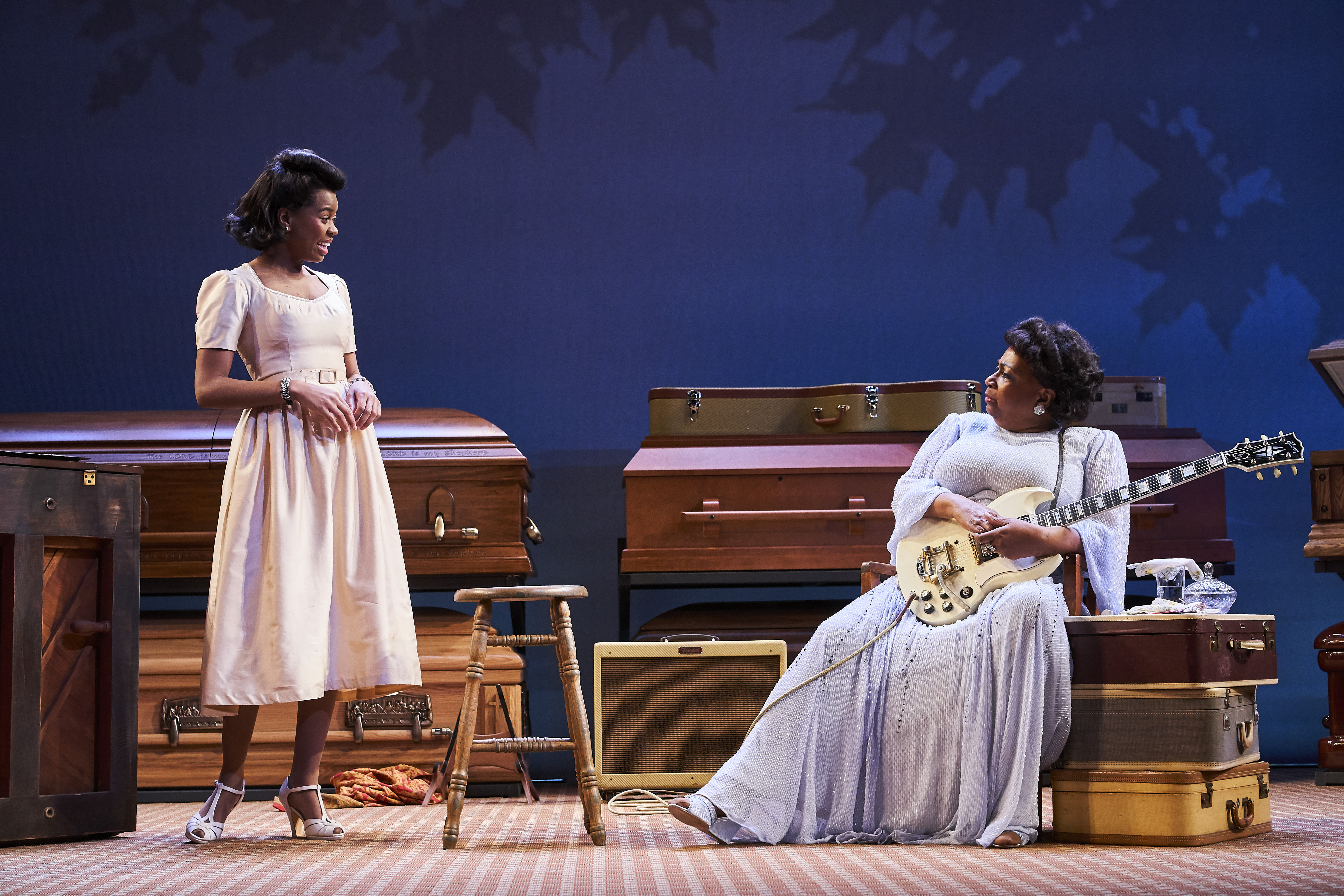 Chaz Hodges (Marie Knight) and Miche Braden (Sister Rosetta Tharpe). Photo Credit Roger Mastroianni (2)