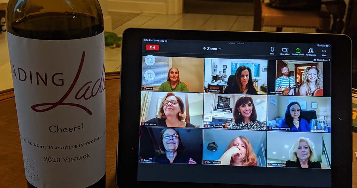 Leading Ladies at their first virtual event.